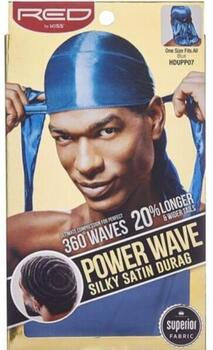 RED by Kiss Power Wave Silky Satin Durag Blue