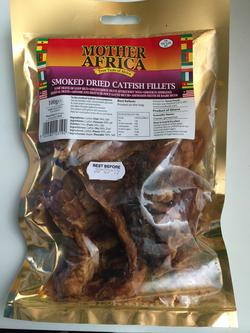 Smoked dried catfish fillets