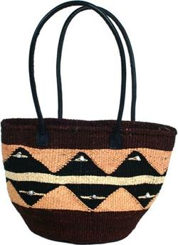 Sisal bag, brown