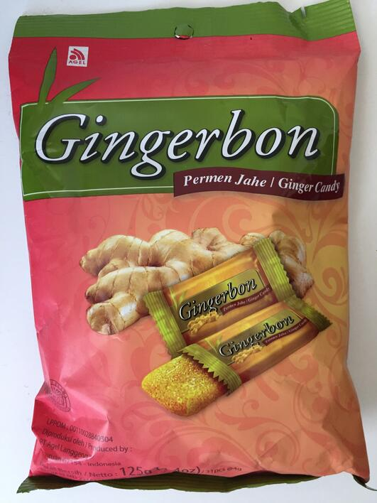 Gingerbon, peppermint flavour