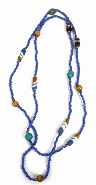 Necklace, blue