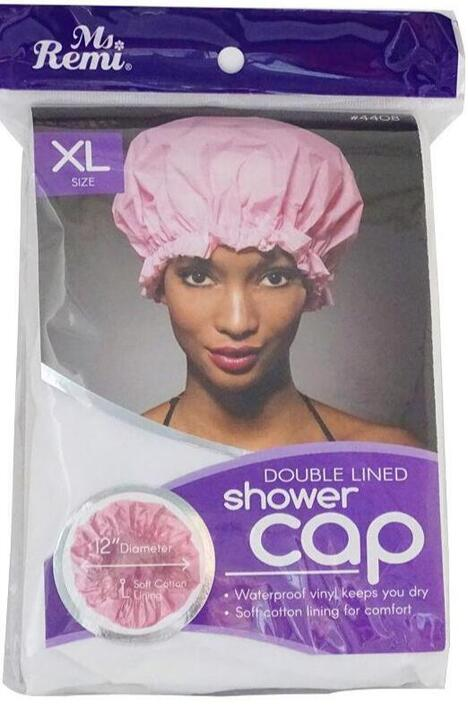 Shower cap, pink, XL