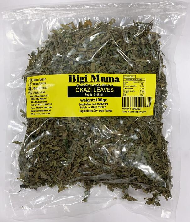 Bigi-Mama Okazi leaves 100g