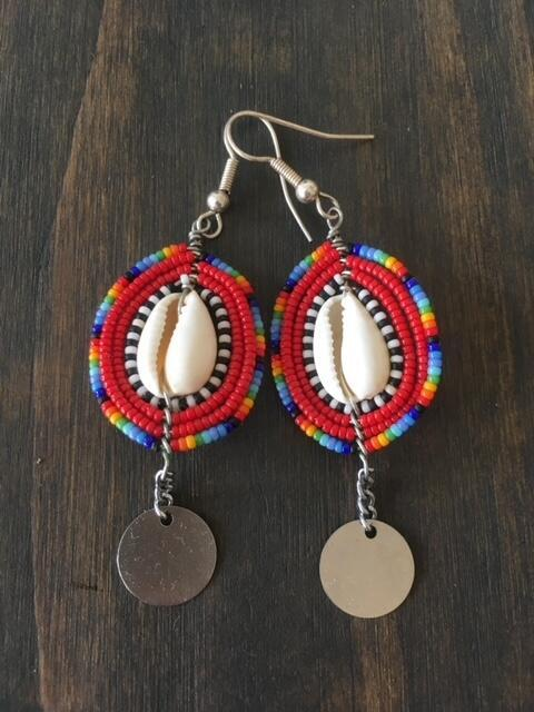 Earrings, African design