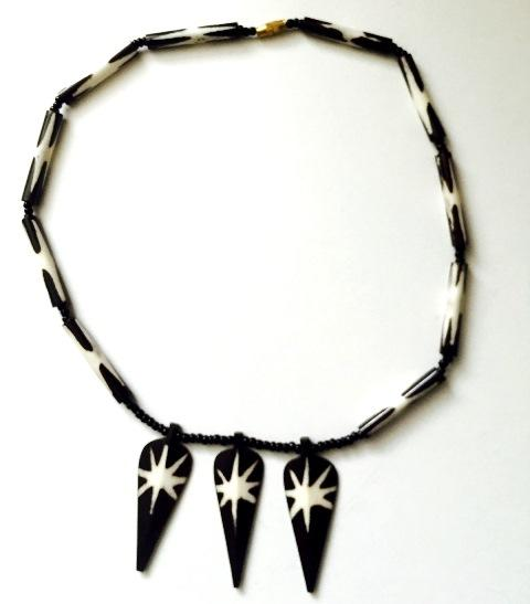 Necklace of horn