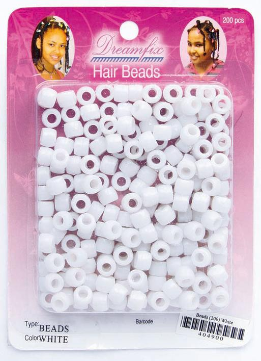 Dreamfix Hair Beads, white