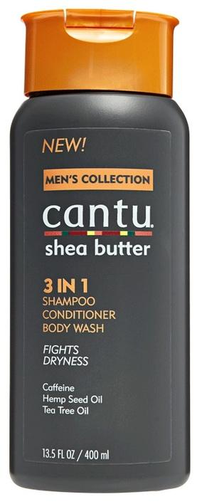 Cantu Shea Butter Men's 3 in 1 Shampoo Conditioner Body Wash