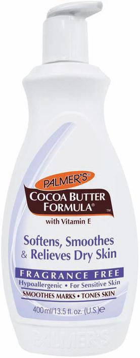 Palmer's Fragrance-free Cocoabutter Lotion 400 ml