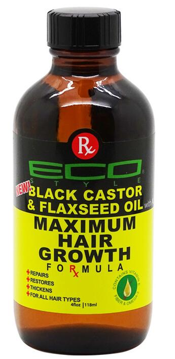 ECO Maximum Hair Growth Black Castor & Flax Seed Oil 118 ml