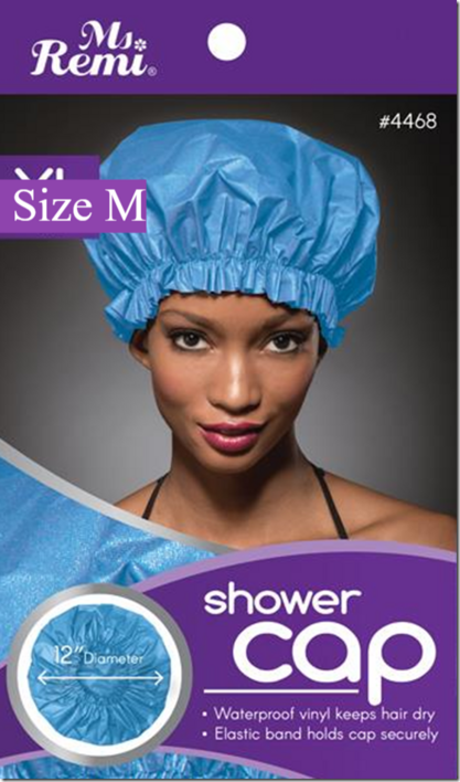 Shower cap, blue, M