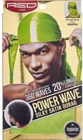 RED by Kiss Power Power Wave Silky Satin Durag Green