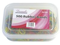 Dreamfix Rubber bands, one size, ass. colours 500 pcs